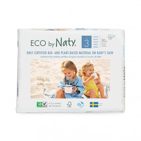 Pañales Eco by Naty - Talla 3 (4 - 9 kg) 30 und.