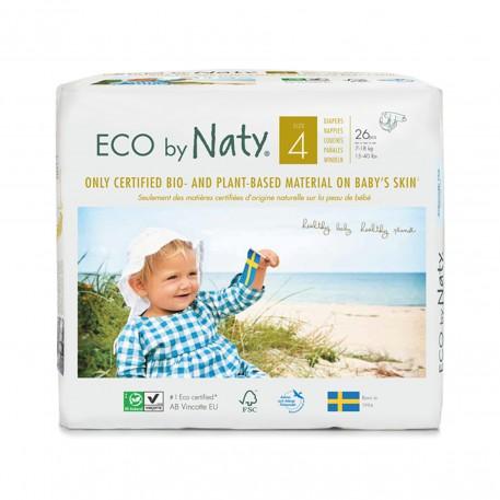 Pañales Eco by Naty - Talla 4 (7 - 18 kg) 26 und.