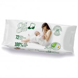 Toallitas Húmedas 100% algodón, 72und - Cot One