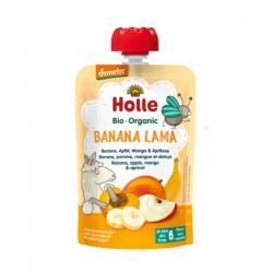 Smoothie de Plátano, Manzana, Mango y Albaricoque, 100g, Holle