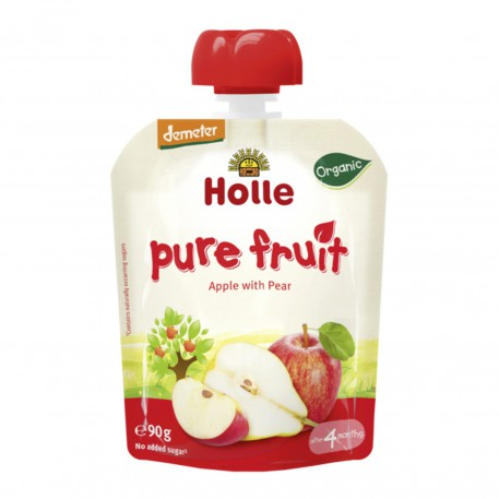 Smoothie de Manzana y Pera, 90g, Holle